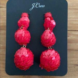J. Crew Jewelry - Jcrew Sequin Ball Drop Earrings